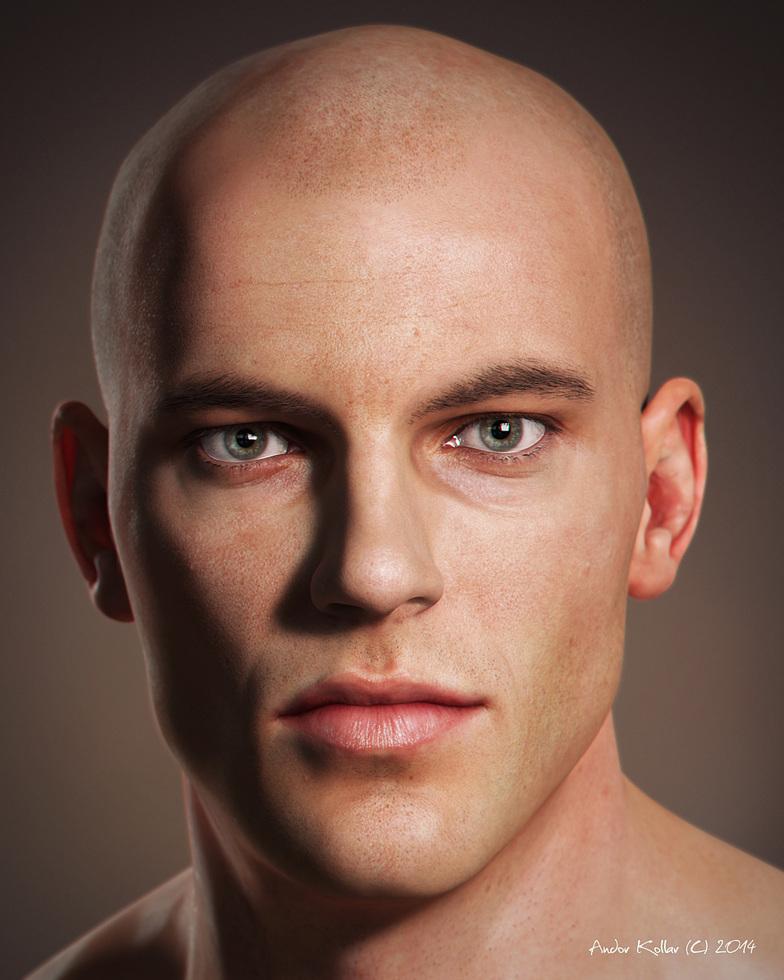 Andor Kollar Realistic Male Head 3d