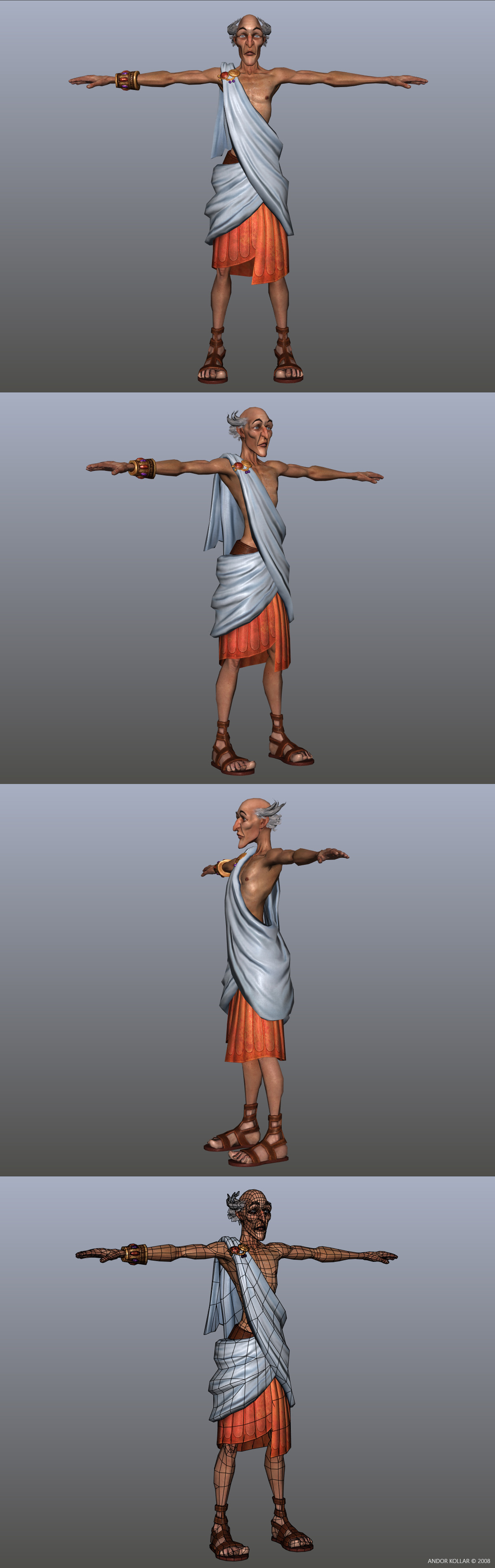 Cartoon Empire Patrician Senator in Maya
