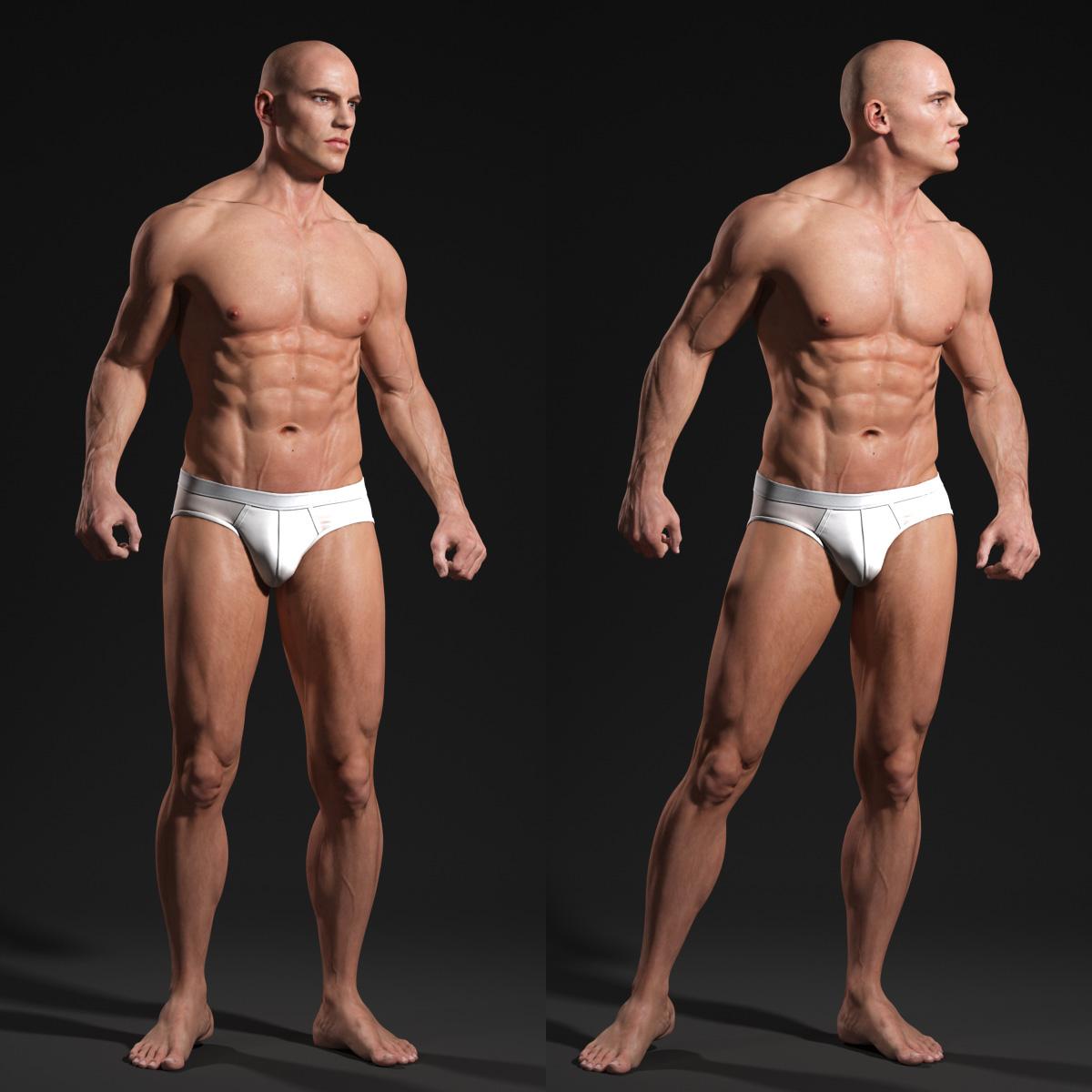 Male Body Anatomy Study Andor Kollar Character Artist
