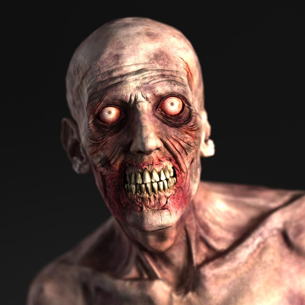 Zombie Head 3d