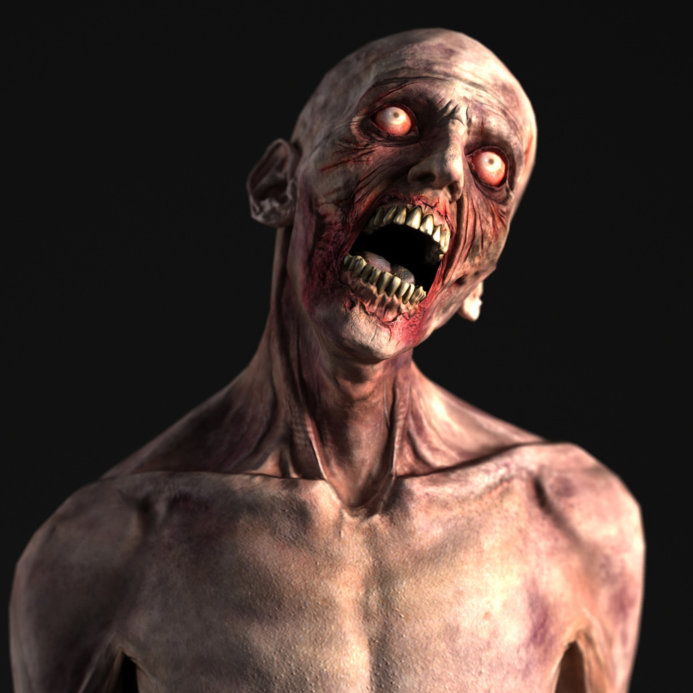 3d zombie head