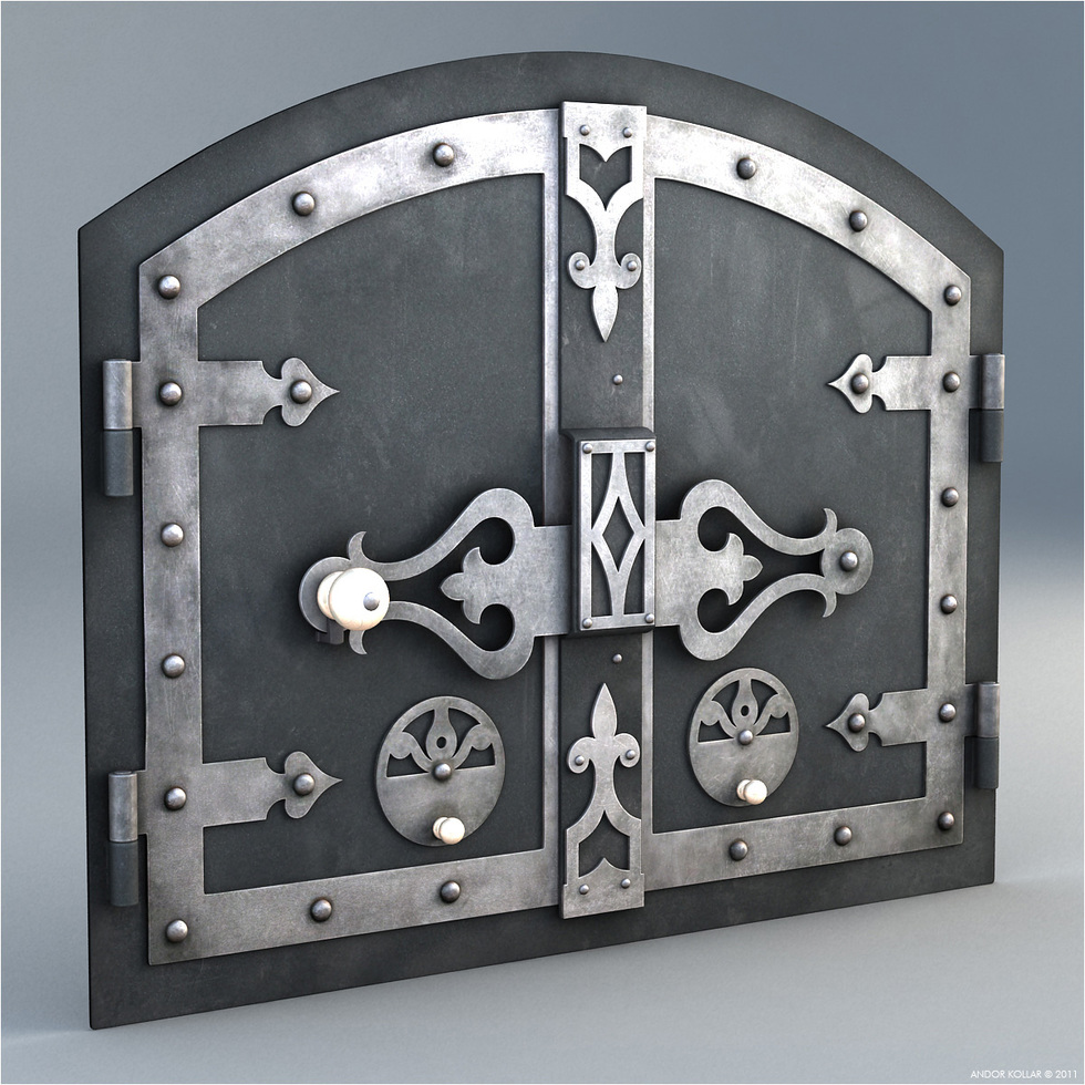 Hungarian Furnace Door 3d