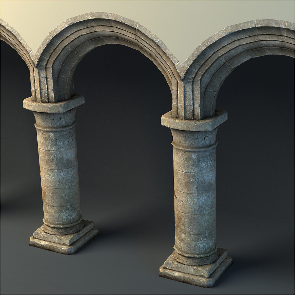 3d Rustic Archway