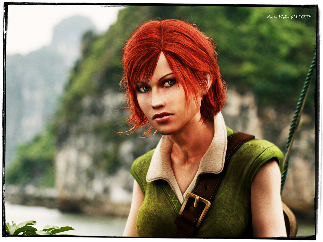 Andor Kollar Shani Witcher Character red hair girl