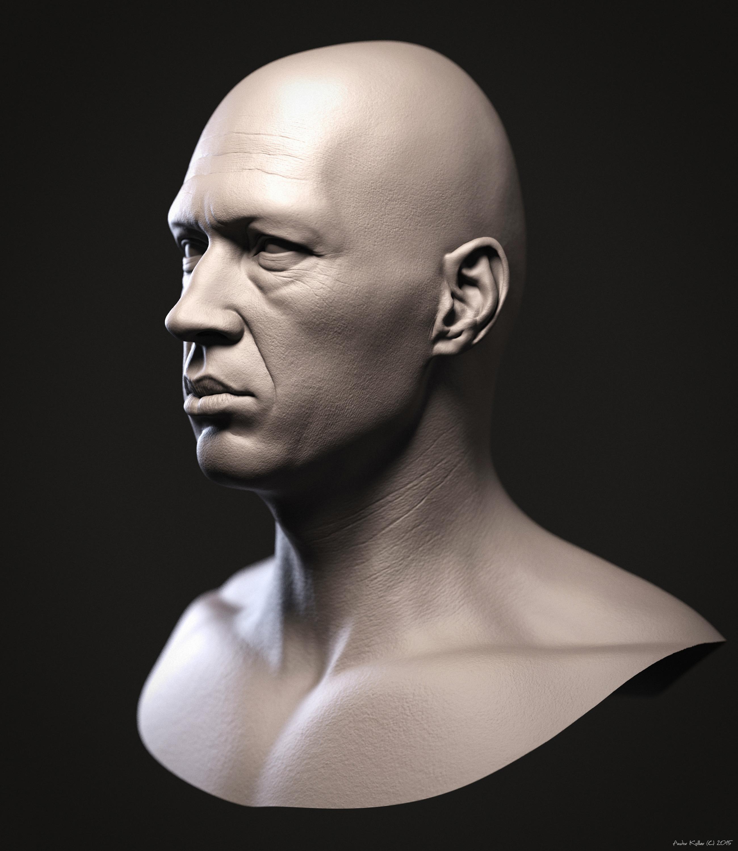 Andor Kollar 3d David Carradine Keyshot render