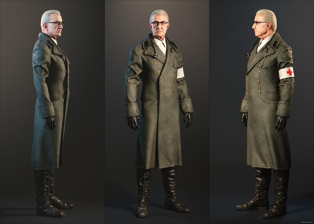 Andor Kollar Doctor 3d character
