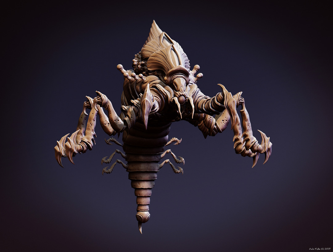 Lost Planet Pernicus Monster in ZBrush
