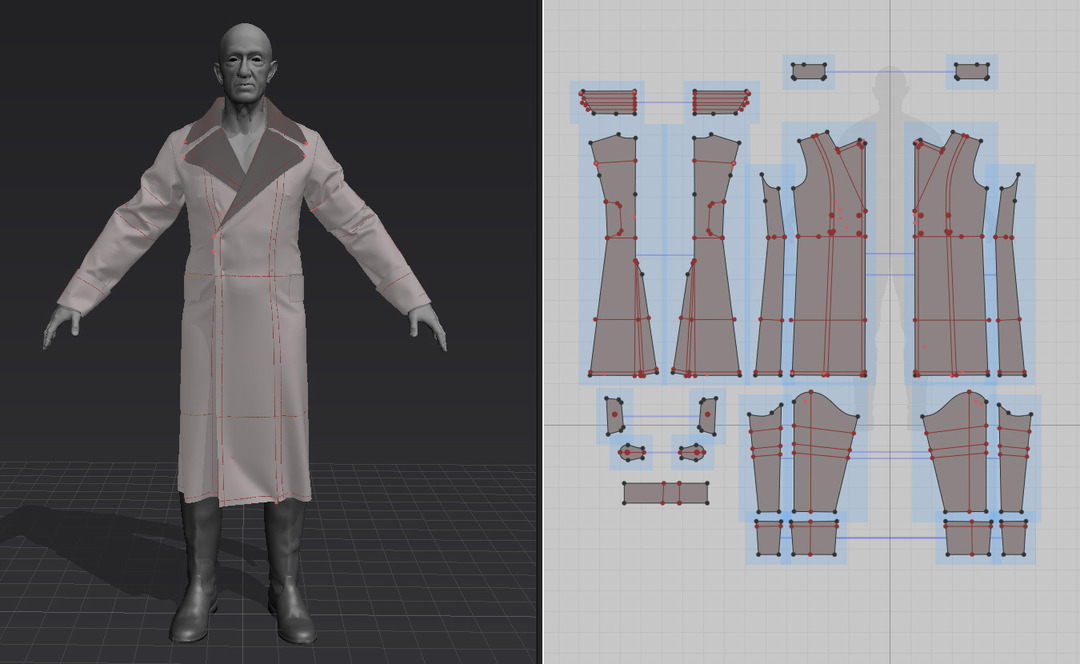 Coat Marvelous Designer Pattern