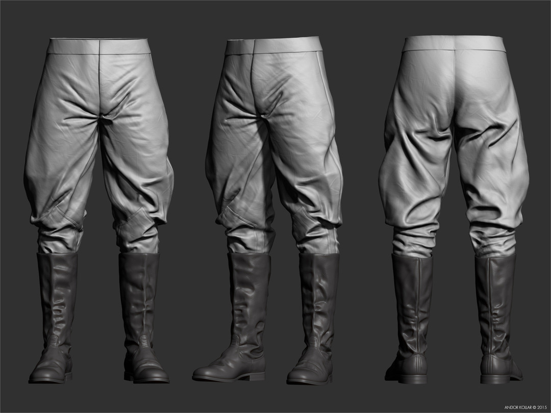 Andor-Kollar_Soviet-Officer_Trousers_zbrush_1