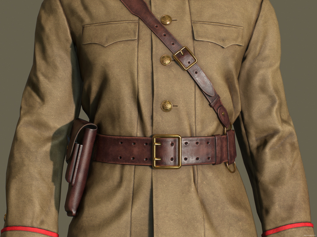 Andor Kollar Soviet Officer Uniform belt holster buttons