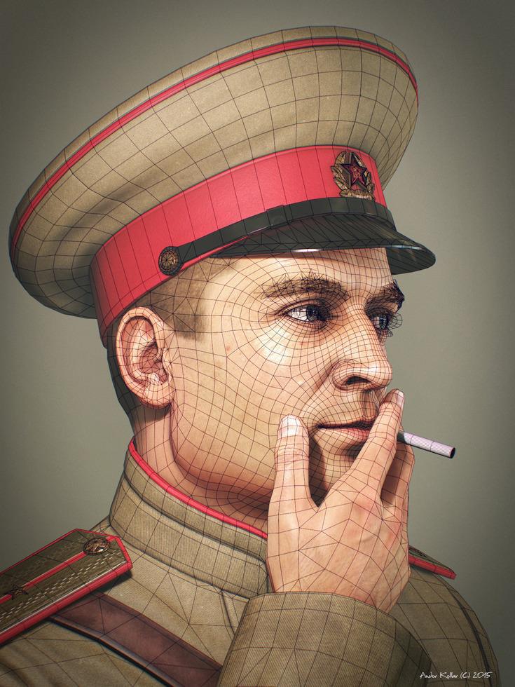 Andor-Kollar_Soviet-Officer_wireframe_2