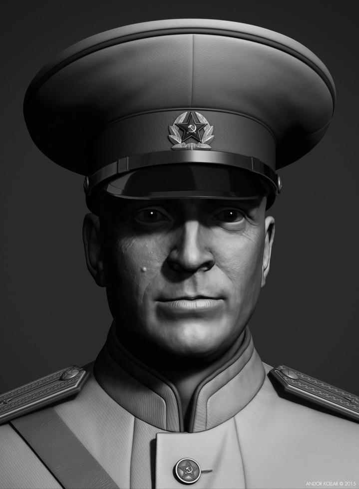 Andor-Kollar_Soviet-Officer_zbrush_3