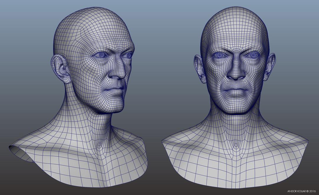 3d face head geometry