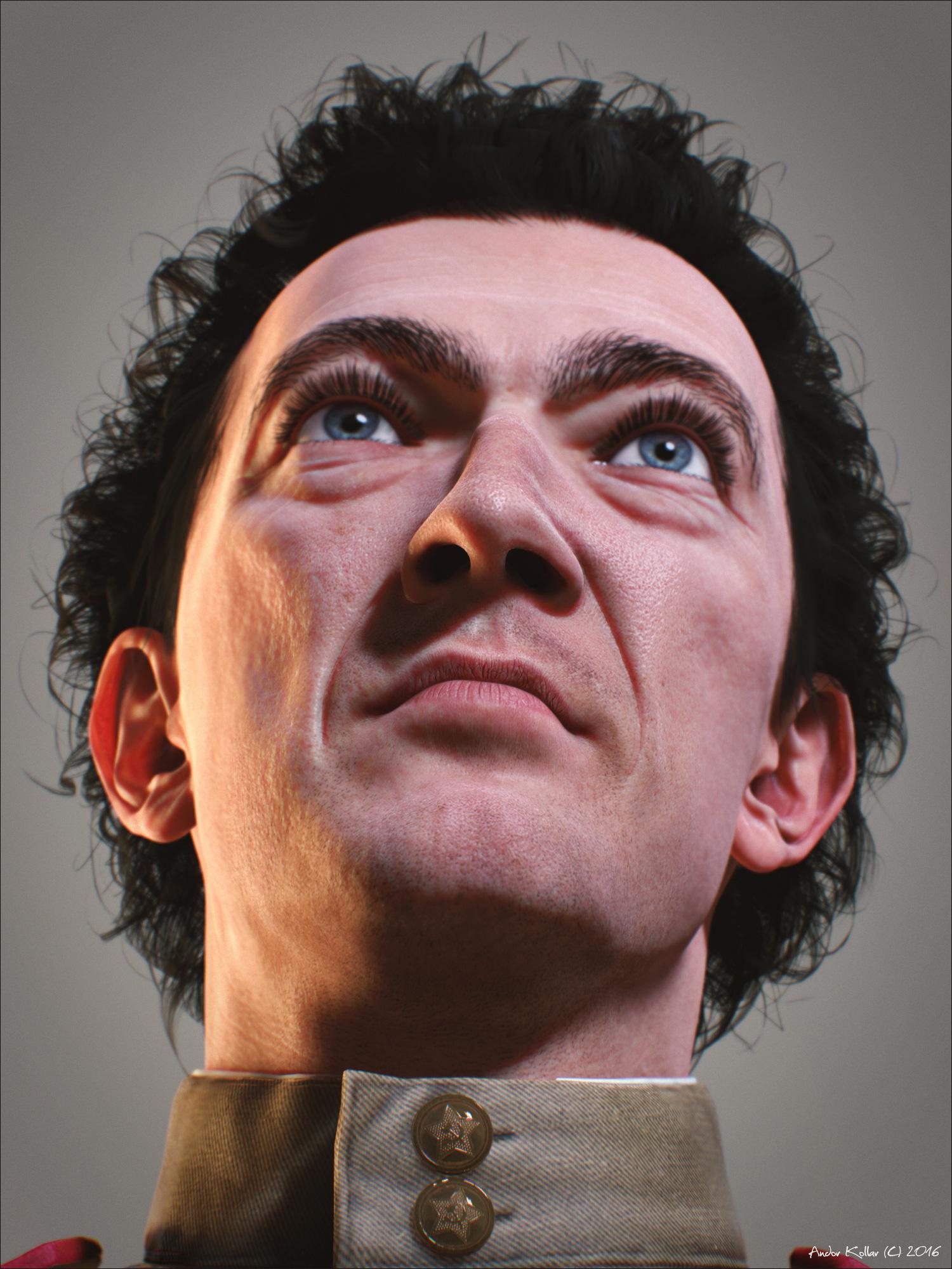 Vincent Cassel head view below