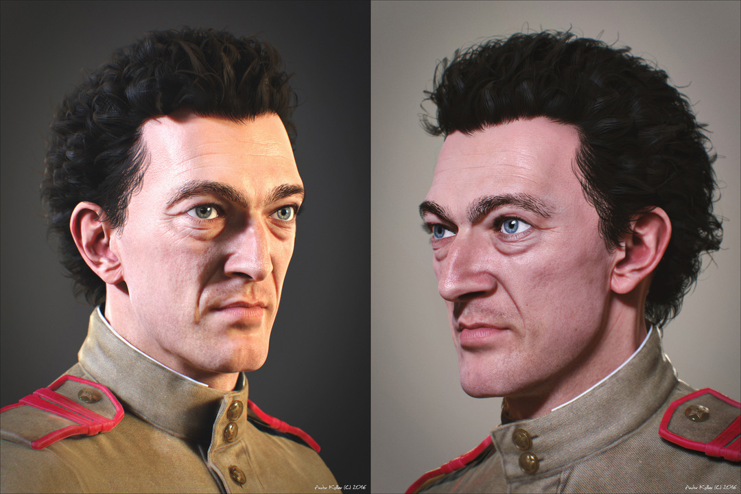 Vincent Cassel Soldier Portrait