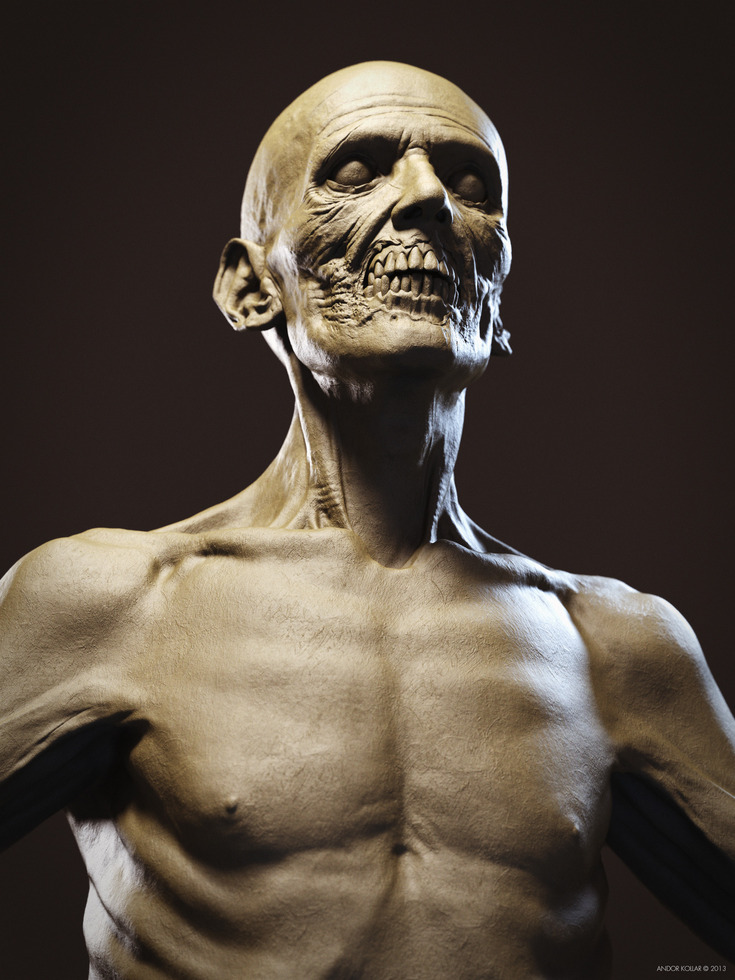Undead Skull Anatomy Zombie ZBrush Keyshot