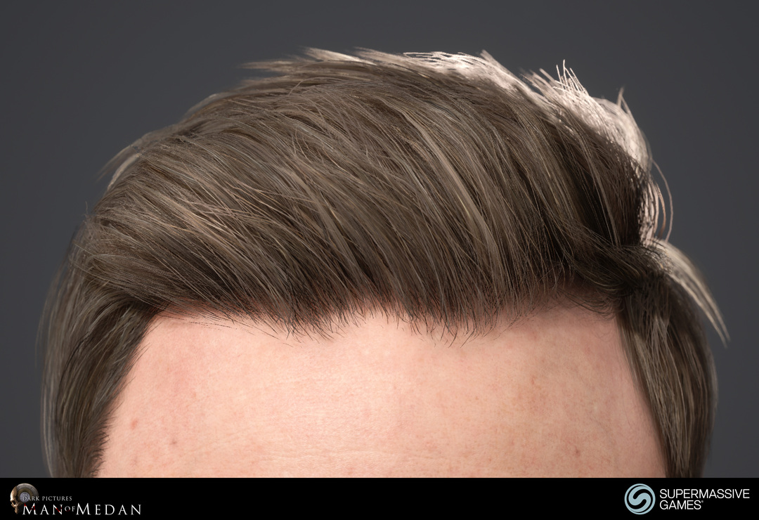 Conrad's hair in The Dark Pictures - Man of Medan game in Unreal Engine.