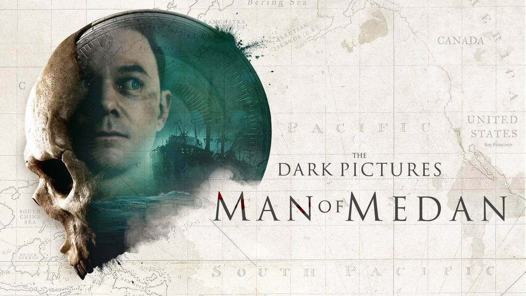 The Dark Pictures - Man of Medan poster with Conrad face in the skull