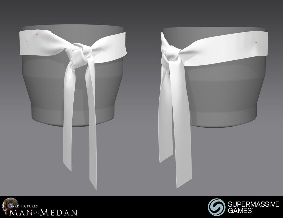 3d ribbon knot in Marvelous Designer