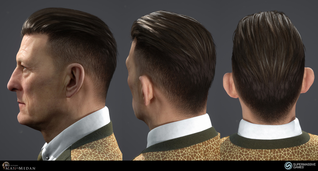 The Curator character from The Dark Pictures game in Unreal Engine. Elegant man hair in 3d, strong hold hair wax. Andor Kollar
