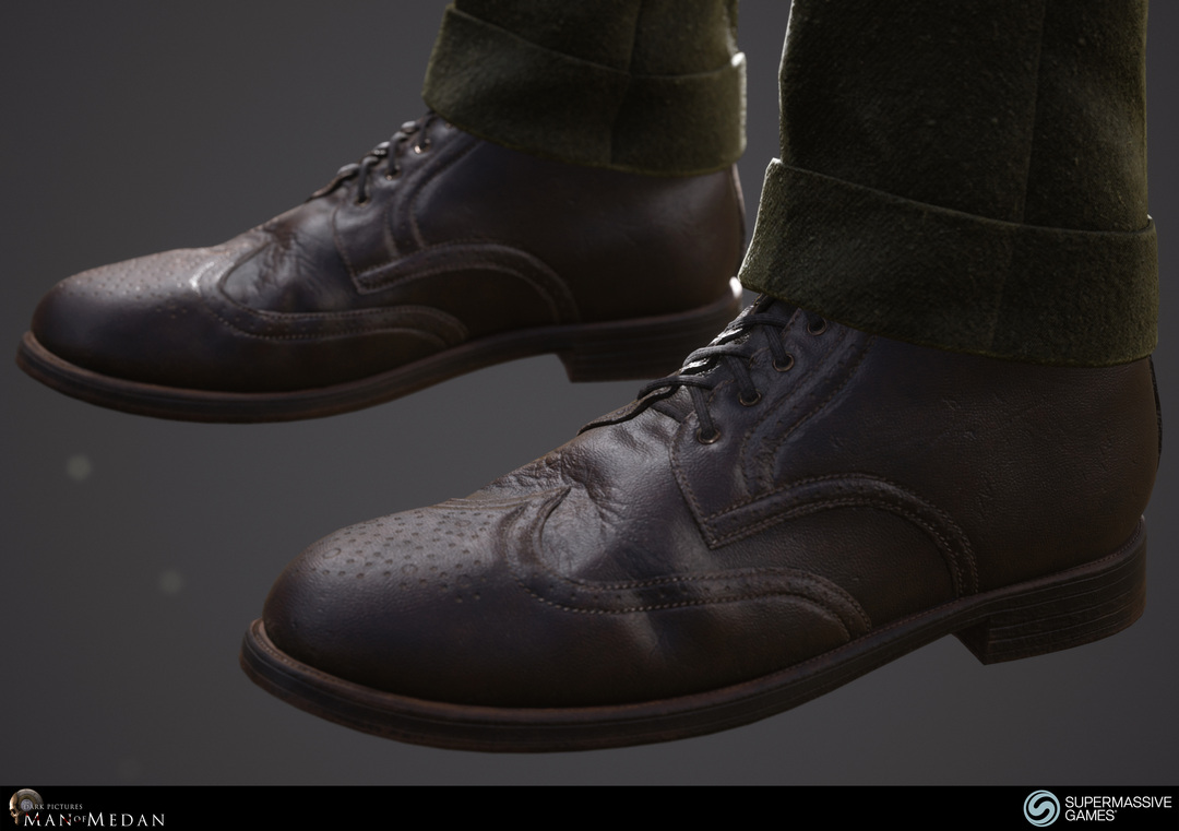 The Curator character from The Dark Pictures game in Unreal Engine. Boots. Andor Kollar