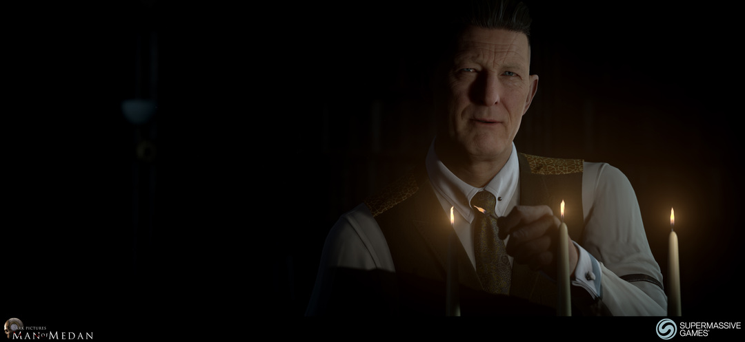 The Curator character from The Dark Pictures game. He lights the candles. Andor Kollar