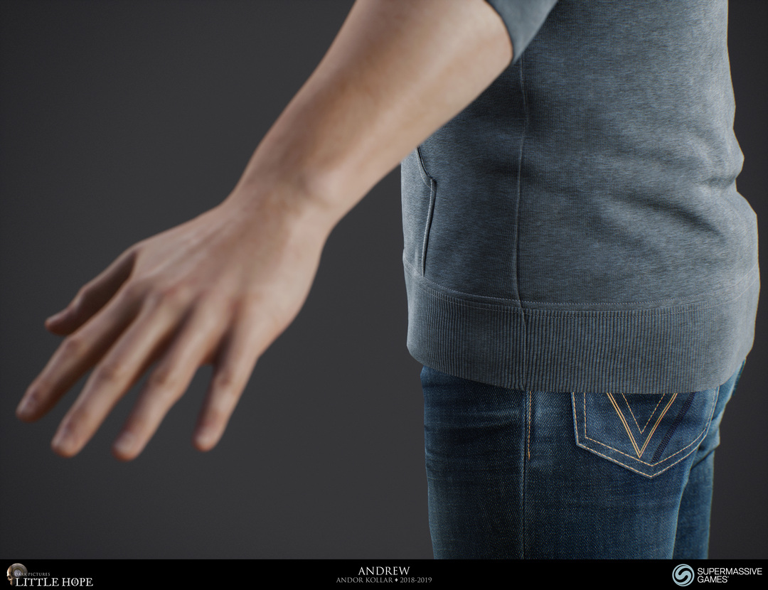 Little Hope, 3d game character, hand, Unreal Engine