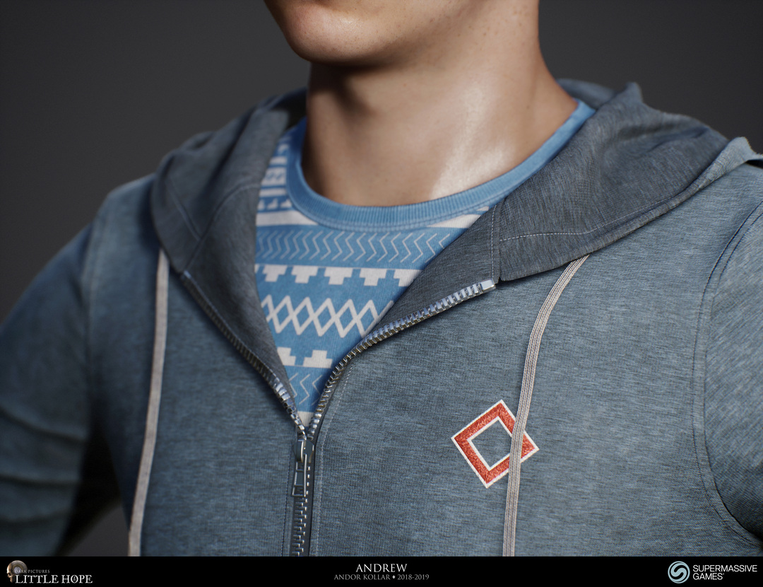 Little Hope, 3d game character, hoodie, zipper, Unreal Engine