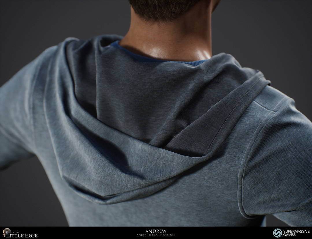 Little Hope, 3d game character, hoodie, Unreal Engine