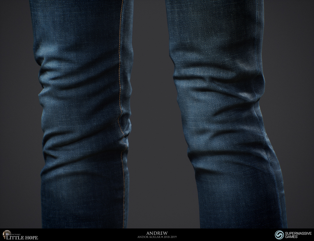 Little Hope, 3d game character, Andrew, blue jeans denim, Unreal Engine