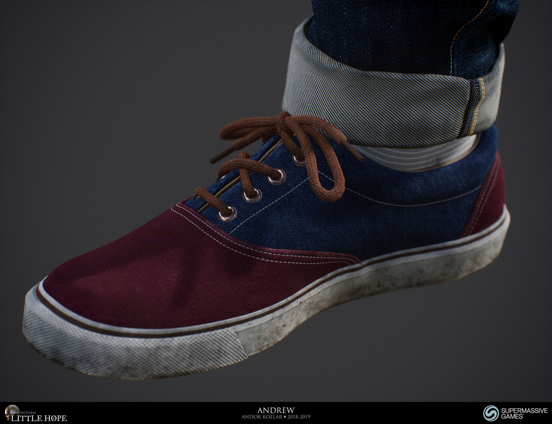 Little Hope, 3d game character, detailed shoe, Unreal Engine